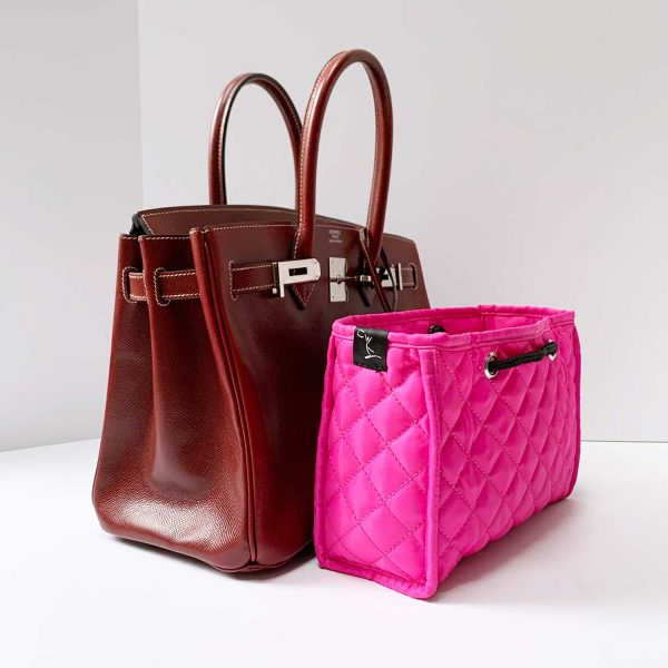 HERMES Birkin 30cm Rouge Grain Leather Tote Bag with Zoe Insert
