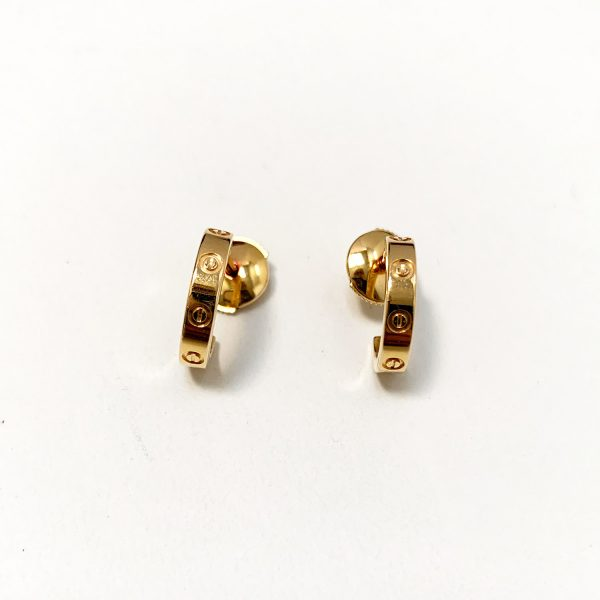 CARTIER Love Earrings in 18k Yellow Gold
