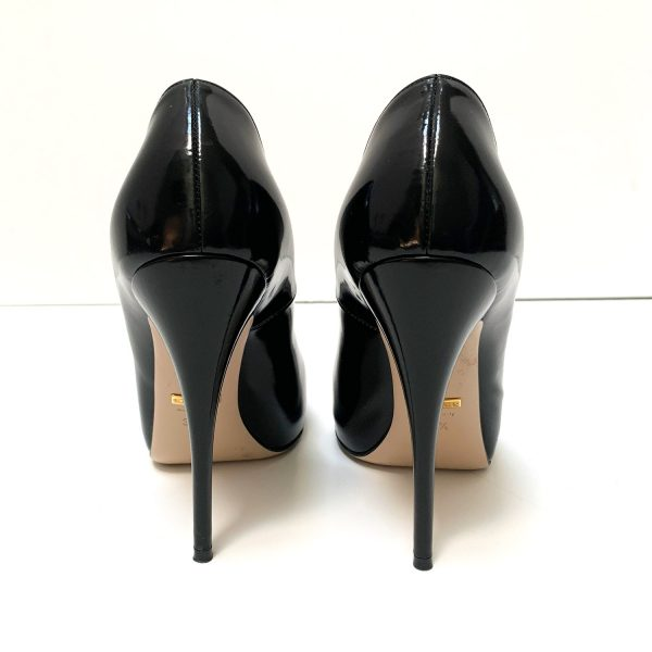Gucci Black Leather Pumps 37.5