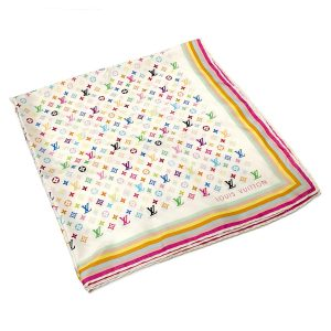 LOUIS VUITTON Multicolor Monogram Silk Scarf