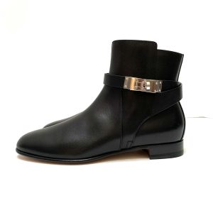 Hermes Neo Ankle Boots Black Leather 37