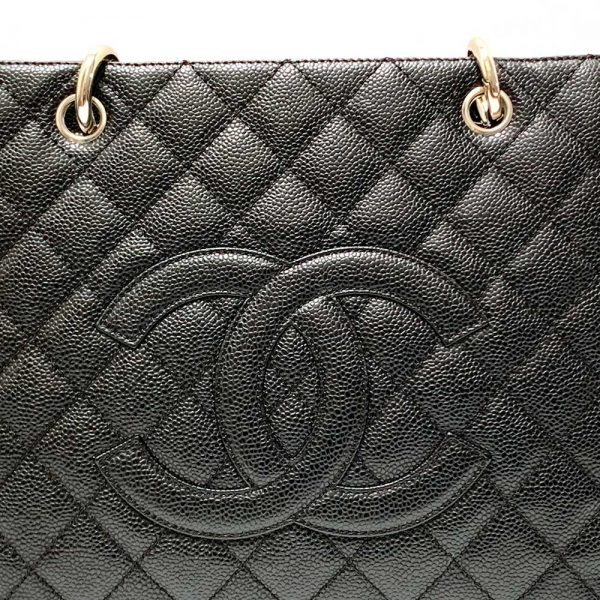 Chanel Timeless Chanel Grand Shopper Tote in Black Caviar Leather