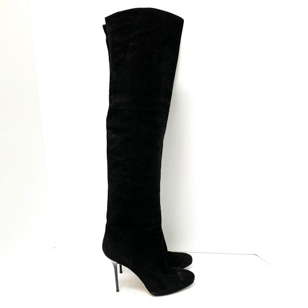 Jimmy Choo Gypsy Sue Black Suede Over-the-Knee Boots