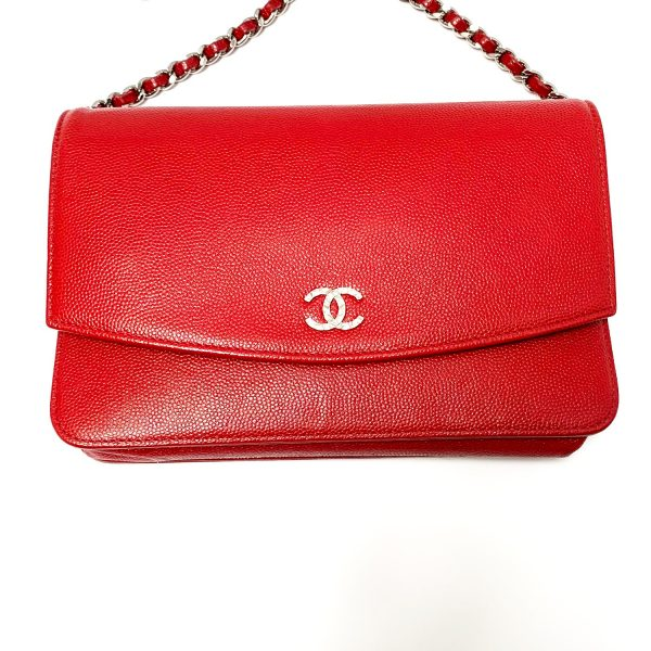 Chanel Sevruga WOC Red Caviar Leather Bag