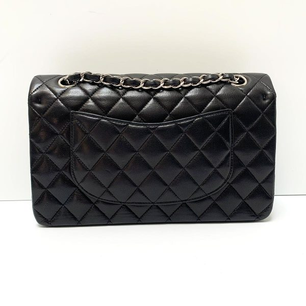 CHANEL Black Leather Classic M/L Flap Bag