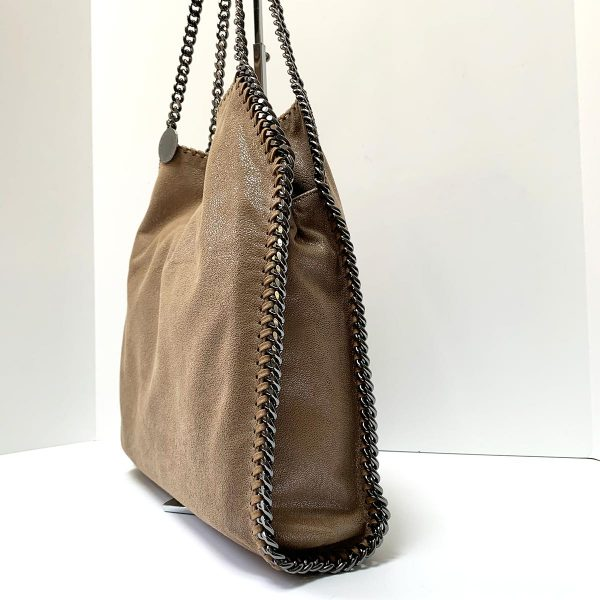 STELLA MCCARTNEY Falabella Shiny Dotted Chamois Small Tote