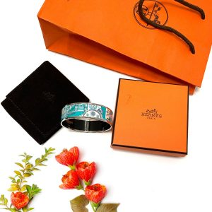 Hermes Animapolis Miami Enamel Bangle Bracelet